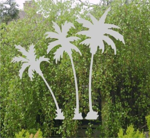 Etched Glass Effect Palm Trees sticker